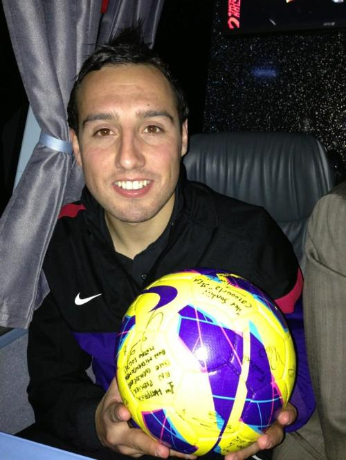 Cazorla with the match ball after the Reading match